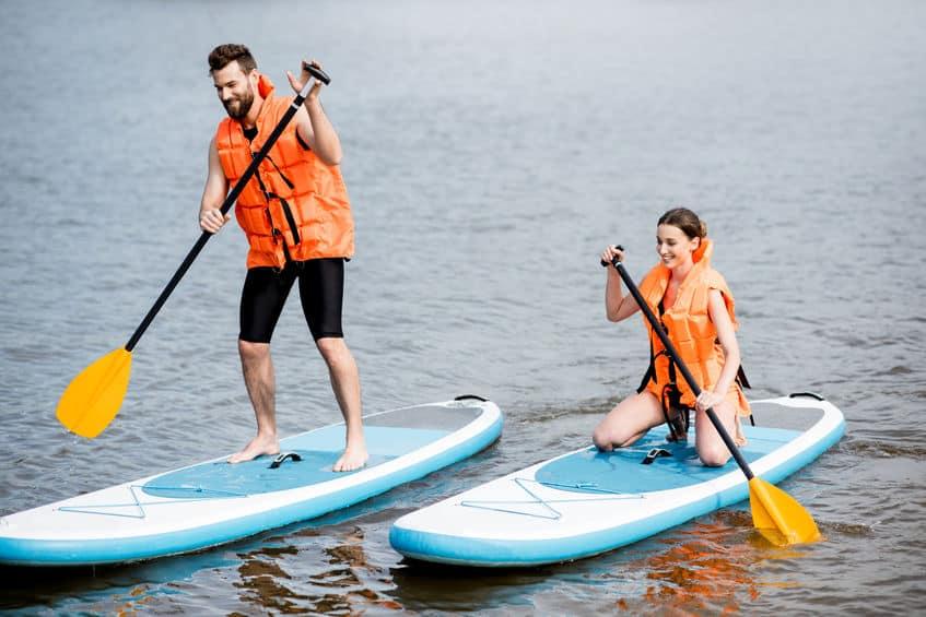 Planche à pagaie - Lac des Sables